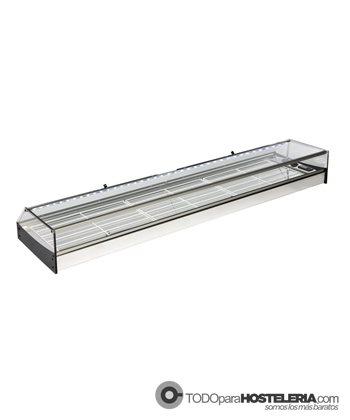 Vitrina refrigerada bandeja plana fondo 380 mm